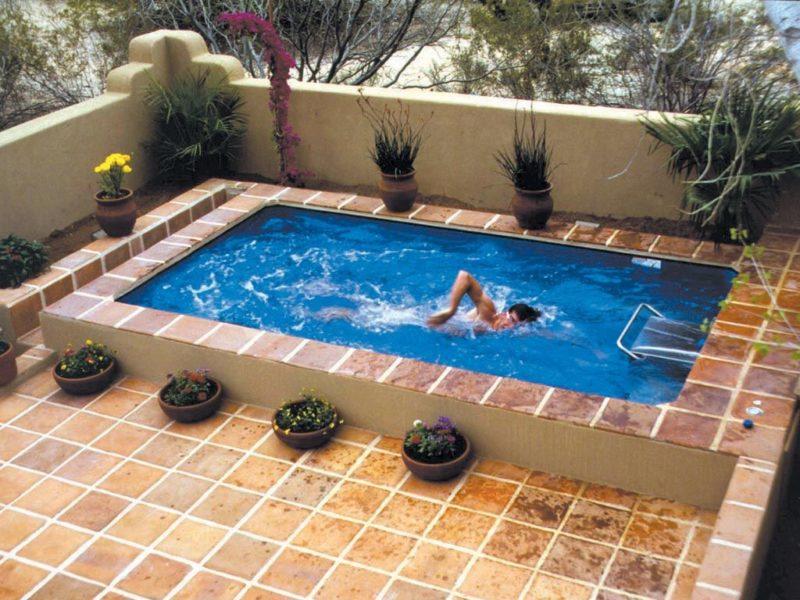 piscina con nado contracorriente