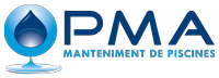 pma piscinas logo azul